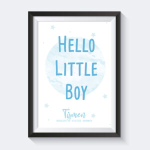 hello little boy poster