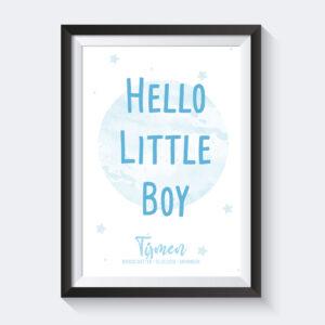 hello little boy poster