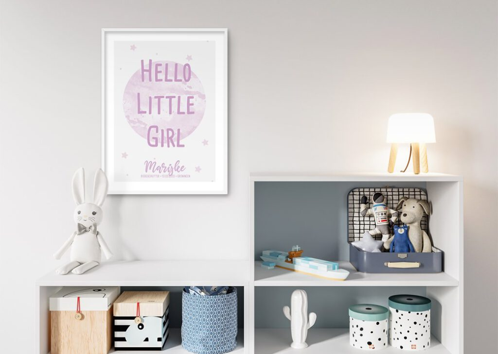 hello little girl roze babykamer