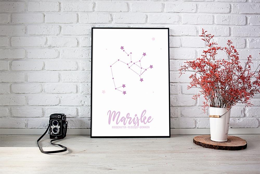 sterren roze