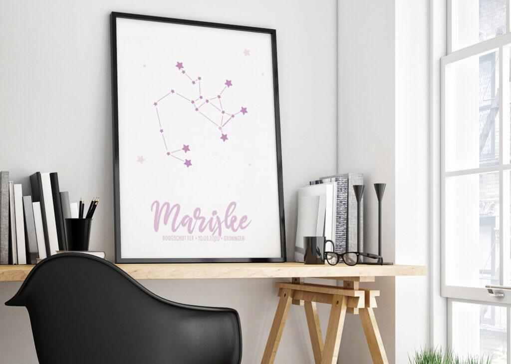 sterrenbeeld roze