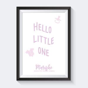 Hello Little Onze Roze