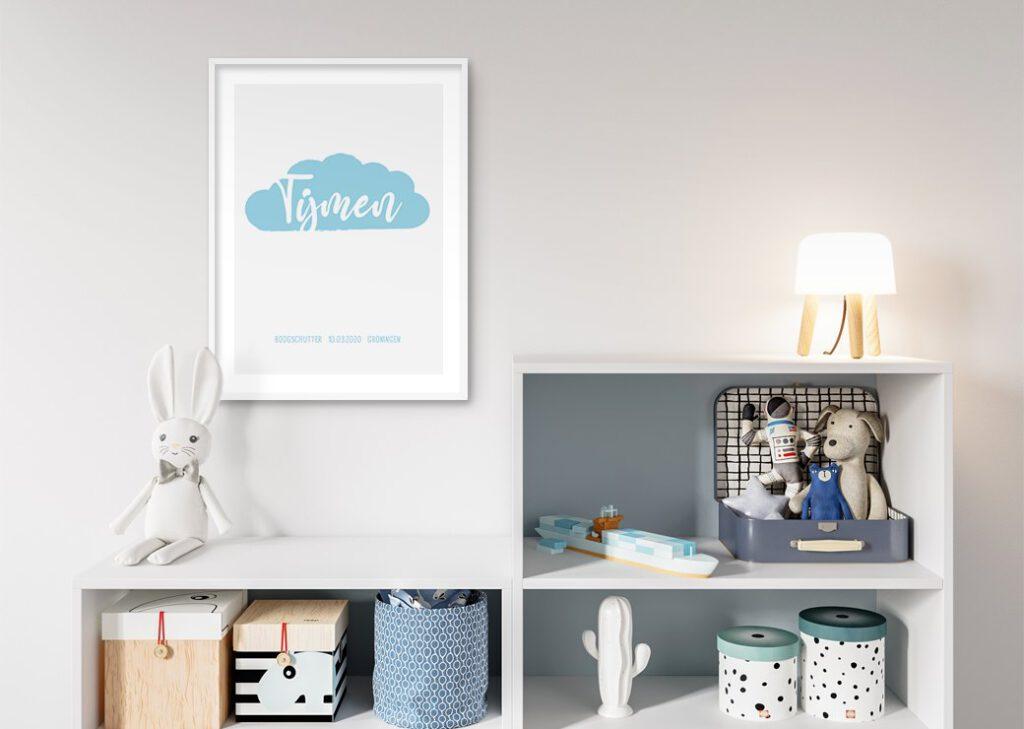 wolk blauw babykamer