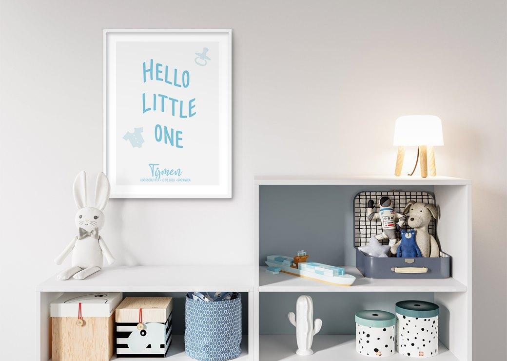 hello little one blauw babykamer